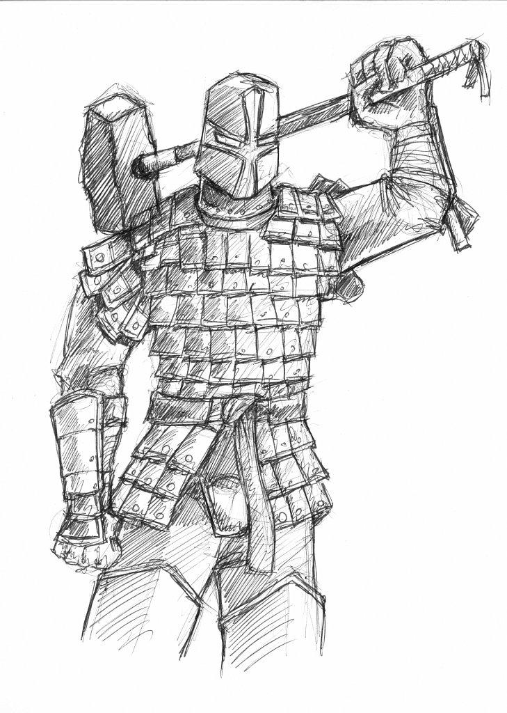 Lamellar Armored Knight